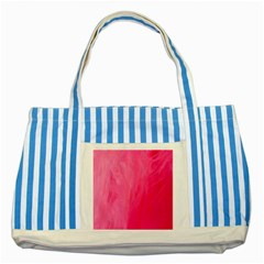 Very Pink Feather Striped Blue Tote Bag