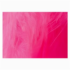 Very Pink Feather Large Glasses Cloth (2 Side)
