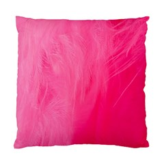 Very Pink Feather Standard Cushion Case (two Sides)