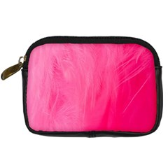 Very Pink Feather Digital Camera Cases