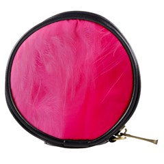 Very Pink Feather Mini Makeup Bags