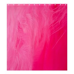 Very Pink Feather Shower Curtain 66  X 72  (large)