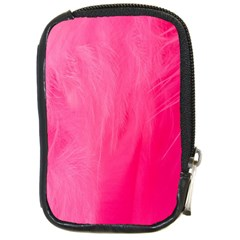 Very Pink Feather Compact Camera Cases