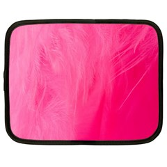 Very Pink Feather Netbook Case (xl)