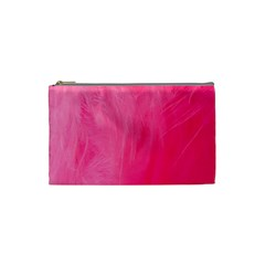 Very Pink Feather Cosmetic Bag (Small)