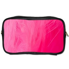 Very Pink Feather Toiletries Bags