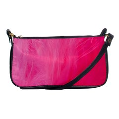 Very Pink Feather Shoulder Clutch Bags