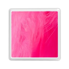 Very Pink Feather Memory Card Reader (square)