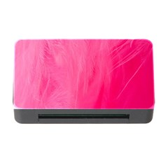 Very Pink Feather Memory Card Reader With Cf