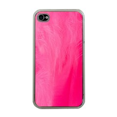 Very Pink Feather Apple iPhone 4 Case (Clear)