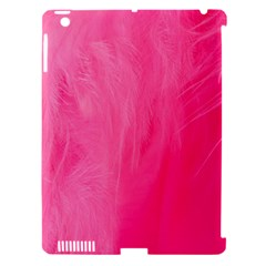 Very Pink Feather Apple iPad 3/4 Hardshell Case (Compatible with Smart Cover)
