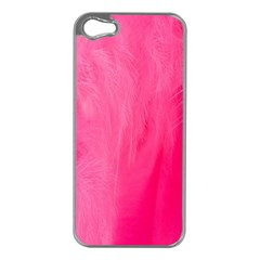 Very Pink Feather Apple iPhone 5 Case (Silver)