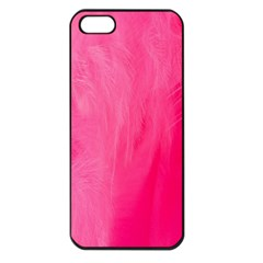 Very Pink Feather Apple iPhone 5 Seamless Case (Black)