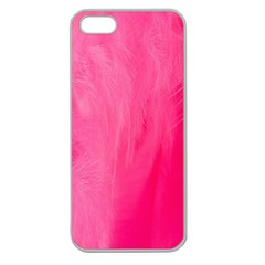 Very Pink Feather Apple Seamless iPhone 5 Case (Clear)