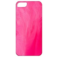 Very Pink Feather Apple iPhone 5 Classic Hardshell Case