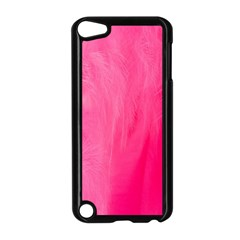 Very Pink Feather Apple Ipod Touch 5 Case (black)
