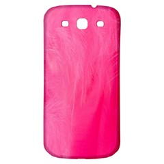 Very Pink Feather Samsung Galaxy S3 S III Classic Hardshell Back Case