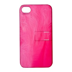 Very Pink Feather Apple iPhone 4/4S Hardshell Case with Stand