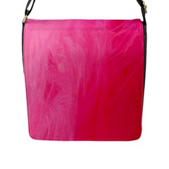 Very Pink Feather Flap Messenger Bag (l)