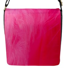 Very Pink Feather Flap Messenger Bag (S)