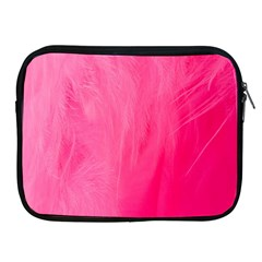 Very Pink Feather Apple iPad 2/3/4 Zipper Cases