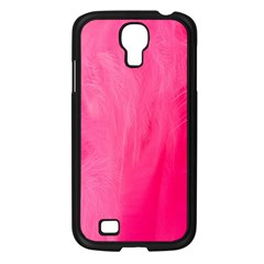 Very Pink Feather Samsung Galaxy S4 I9500/ I9505 Case (Black)