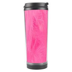 Very Pink Feather Travel Tumbler