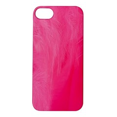 Very Pink Feather Apple iPhone 5S/ SE Hardshell Case