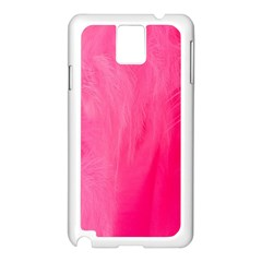 Very Pink Feather Samsung Galaxy Note 3 N9005 Case (White)