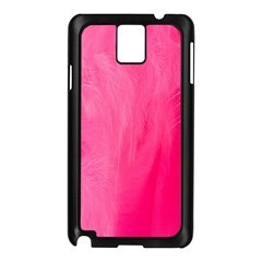 Very Pink Feather Samsung Galaxy Note 3 N9005 Case (Black)