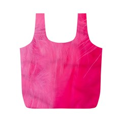 Very Pink Feather Full Print Recycle Bags (M)