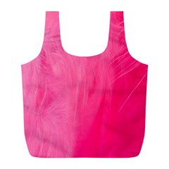 Very Pink Feather Full Print Recycle Bags (L)