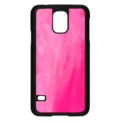 Very Pink Feather Samsung Galaxy S5 Case (Black)