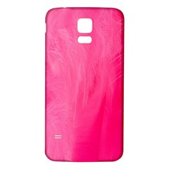 Very Pink Feather Samsung Galaxy S5 Back Case (White)