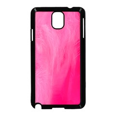 Very Pink Feather Samsung Galaxy Note 3 Neo Hardshell Case (Black)