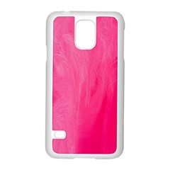 Very Pink Feather Samsung Galaxy S5 Case (White)