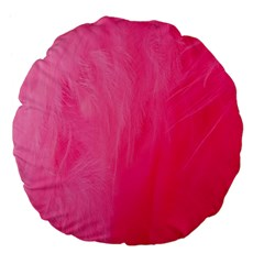 Very Pink Feather Large 18  Premium Flano Round Cushions