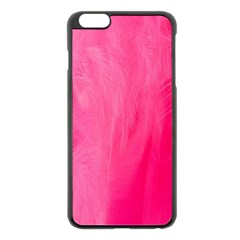 Very Pink Feather Apple Iphone 6 Plus/6s Plus Black Enamel Case