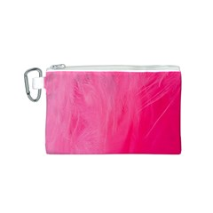 Very Pink Feather Canvas Cosmetic Bag (s)