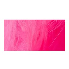 Very Pink Feather Satin Wrap
