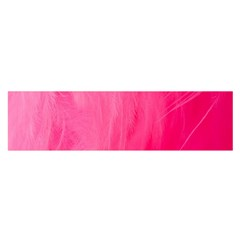 Very Pink Feather Satin Scarf (oblong)