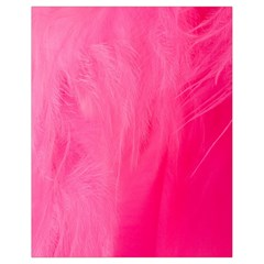 Very Pink Feather Drawstring Bag (Small)