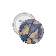 Blue And Tan Triangles Intertwine Together To Create An Abstract Background 1.75  Buttons