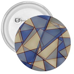 Blue And Tan Triangles Intertwine Together To Create An Abstract Background 3  Buttons