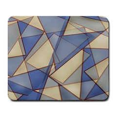 Blue And Tan Triangles Intertwine Together To Create An Abstract Background Large Mousepads