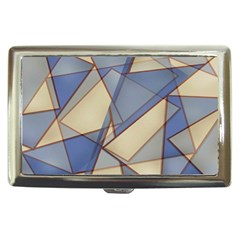 Blue And Tan Triangles Intertwine Together To Create An Abstract Background Cigarette Money Cases