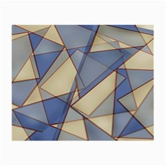 Blue And Tan Triangles Intertwine Together To Create An Abstract Background Small Glasses Cloth