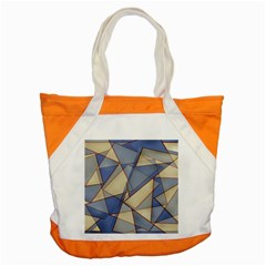 Blue And Tan Triangles Intertwine Together To Create An Abstract Background Accent Tote Bag