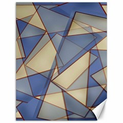Blue And Tan Triangles Intertwine Together To Create An Abstract Background Canvas 12  X 16