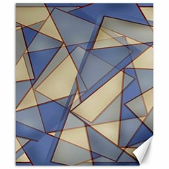 Blue And Tan Triangles Intertwine Together To Create An Abstract Background Canvas 20  x 24
